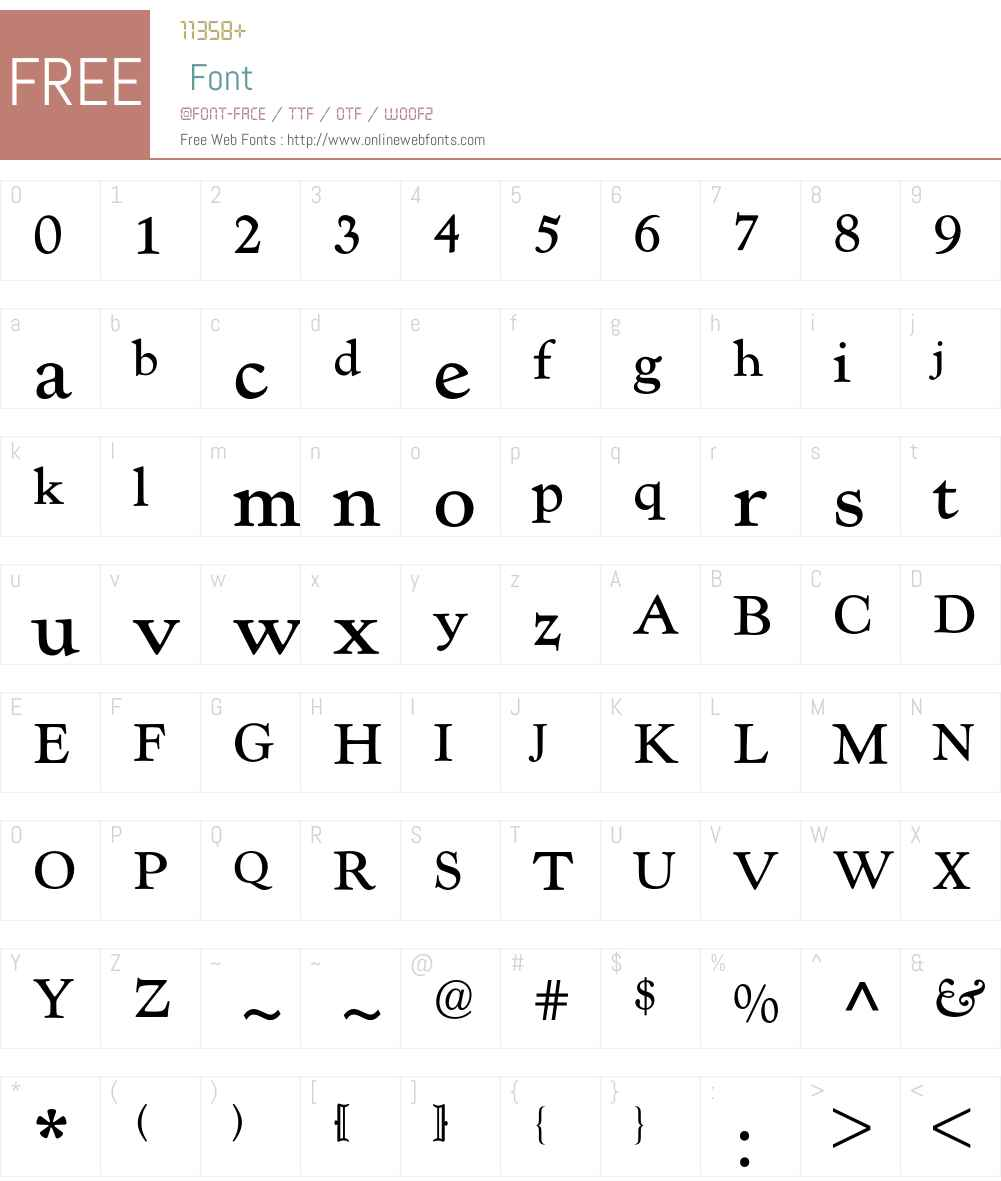 Kennerley Old Style BQ Font Screenshots