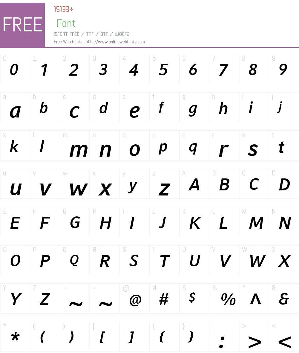CompatilFactLTW01-BoldIt Font Screenshots