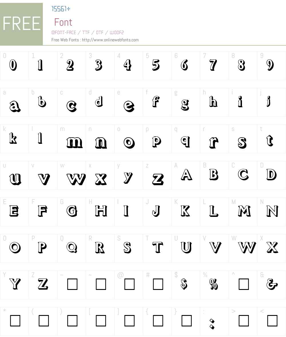 Avion Font Screenshots