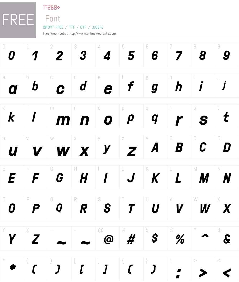 GTPressura-BoldItalic Font Screenshots