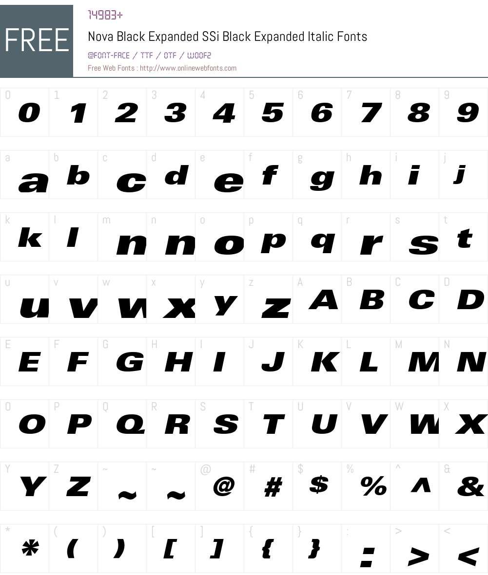 Nova Black Expanded SSi Font Screenshots