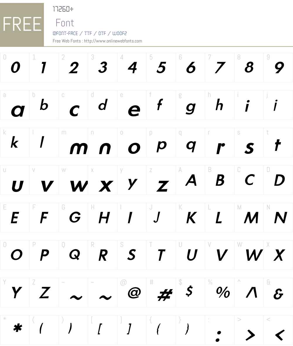 Blitz Font Screenshots