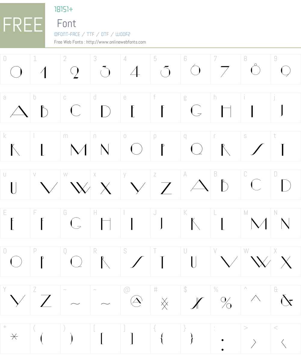 Diamond Ring Font Screenshots