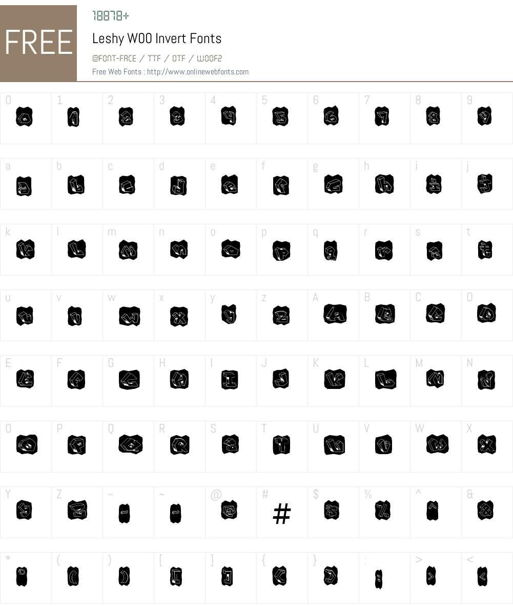 LeshyW00-Invert Font Screenshots