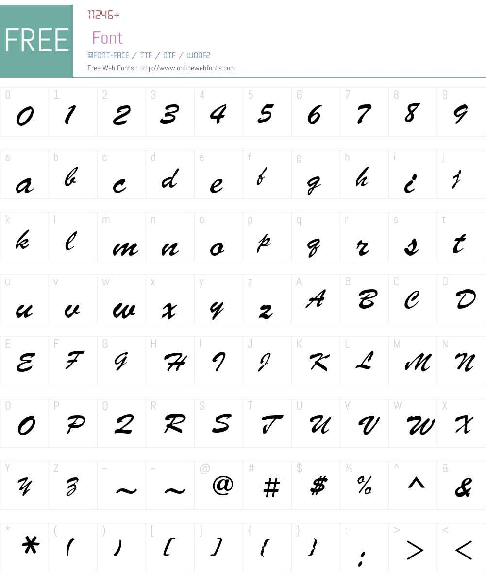 Parsek Font Screenshots