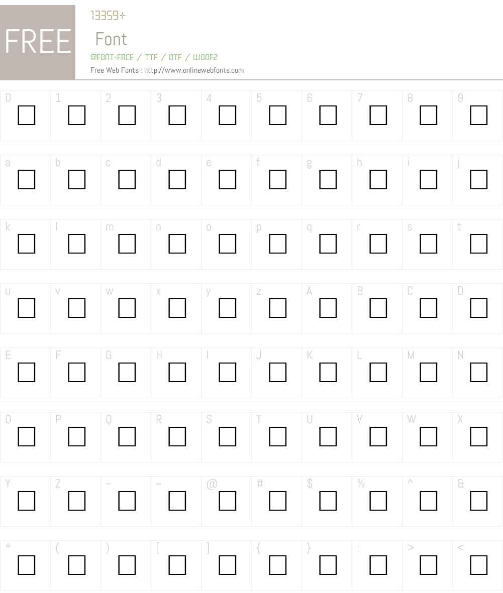 ALBRIGHT Font Screenshots