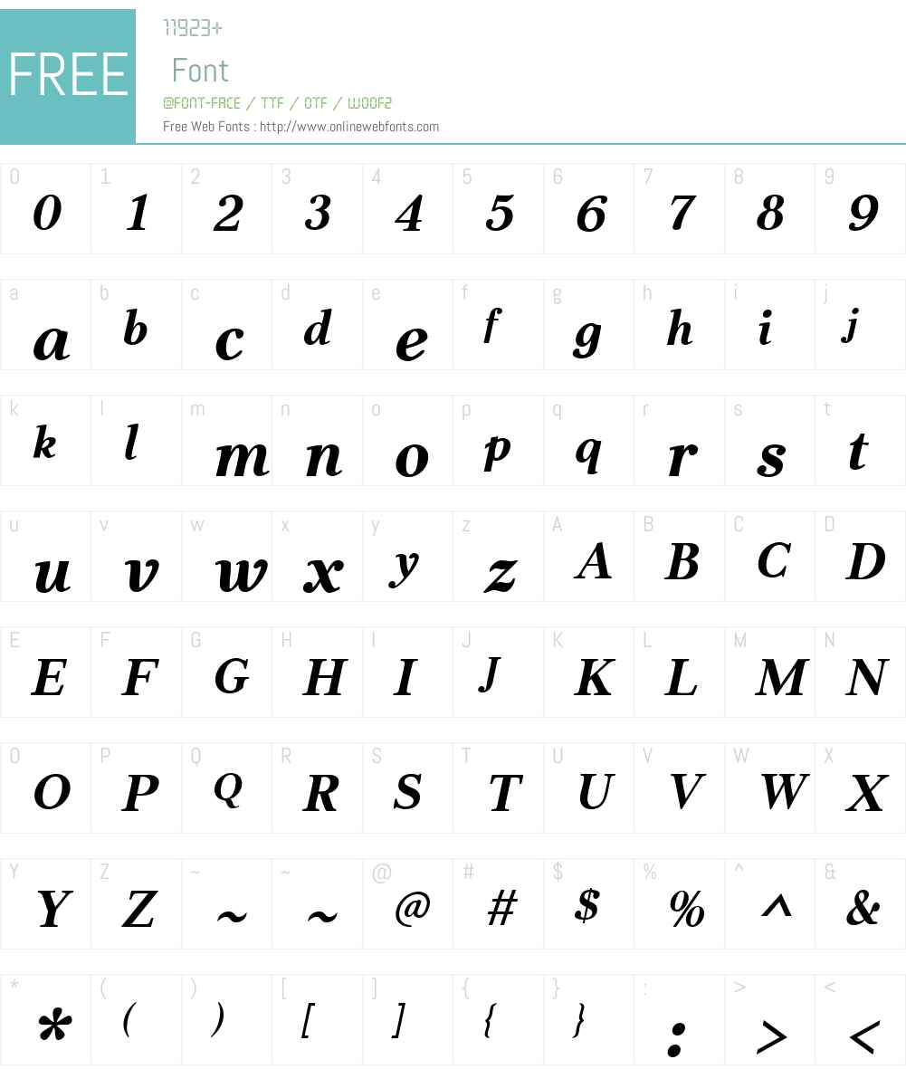 JabcedHyW01-BoldItalic Font Screenshots