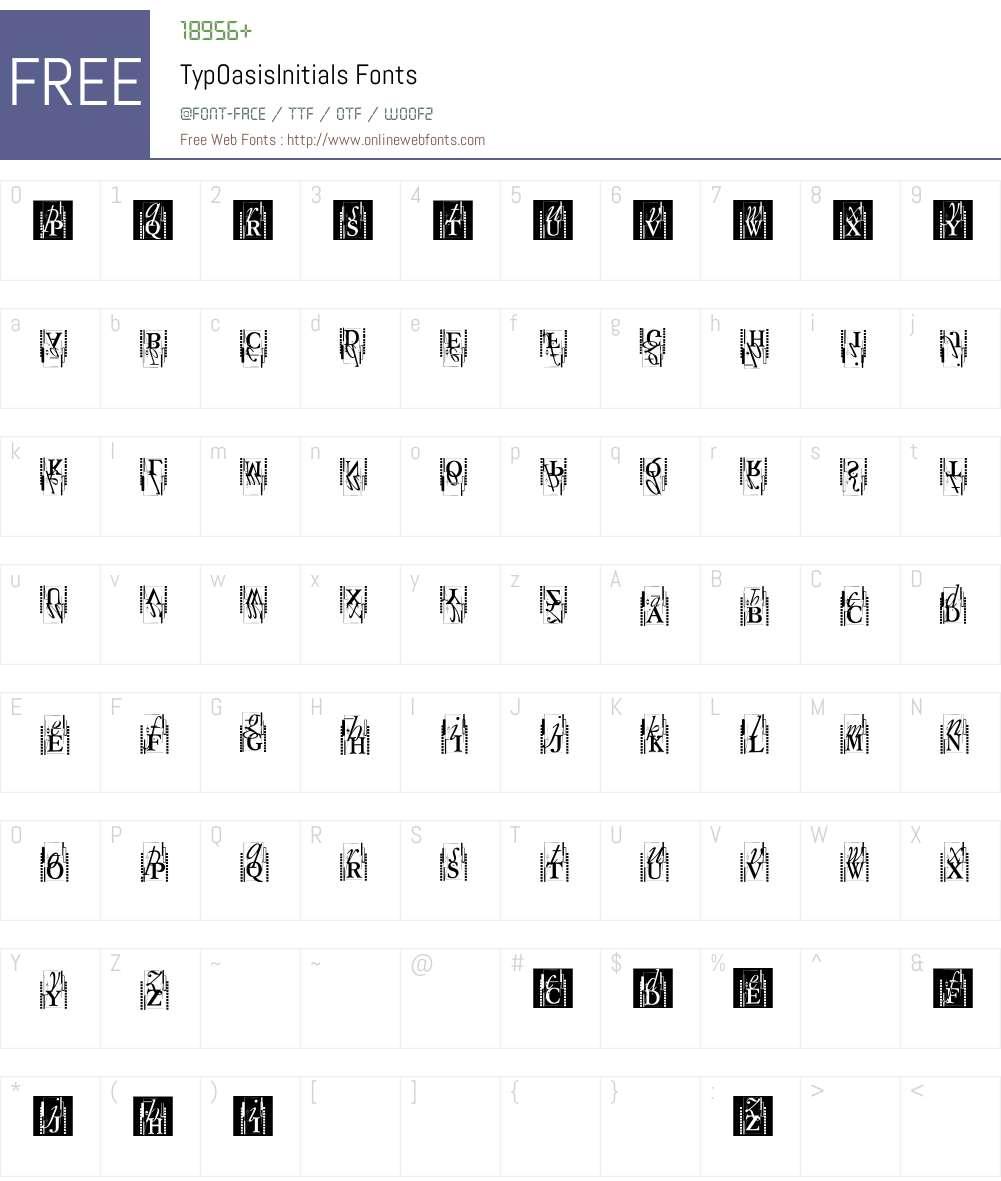 TypOasisInitials Font Screenshots