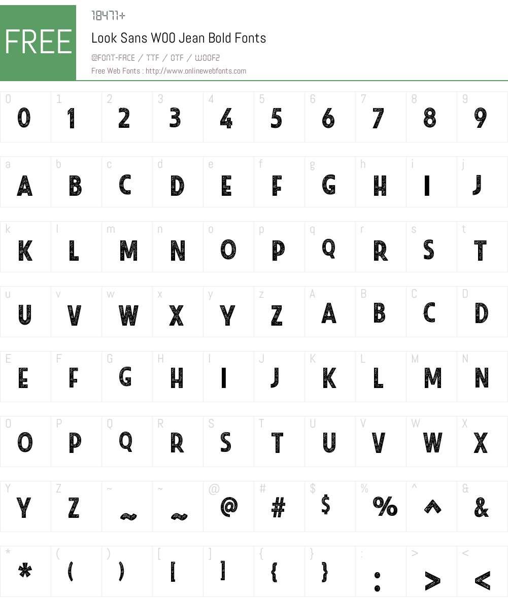 LookSansW00-JeanBold Font Screenshots