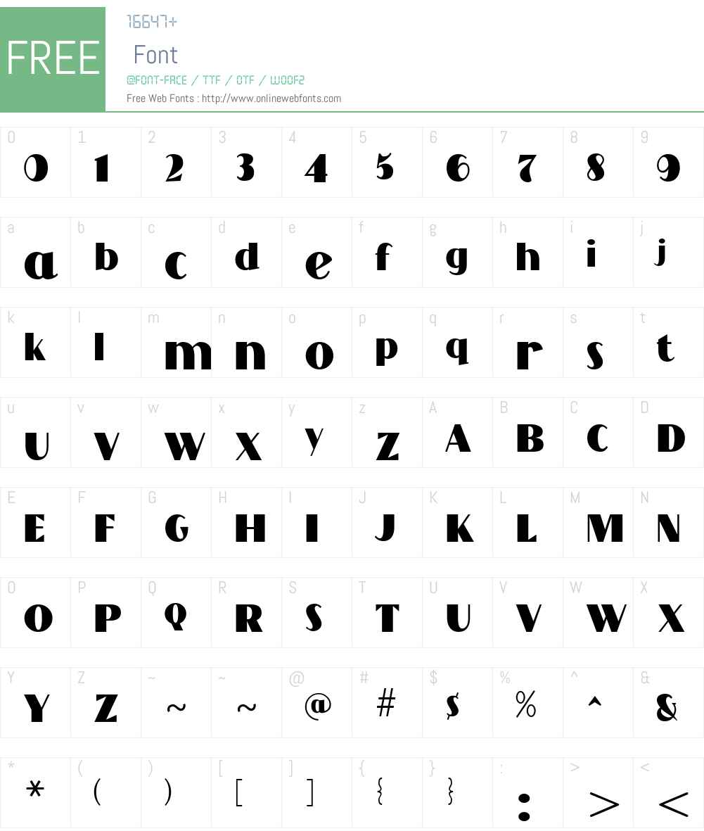 Grandecort Font Screenshots