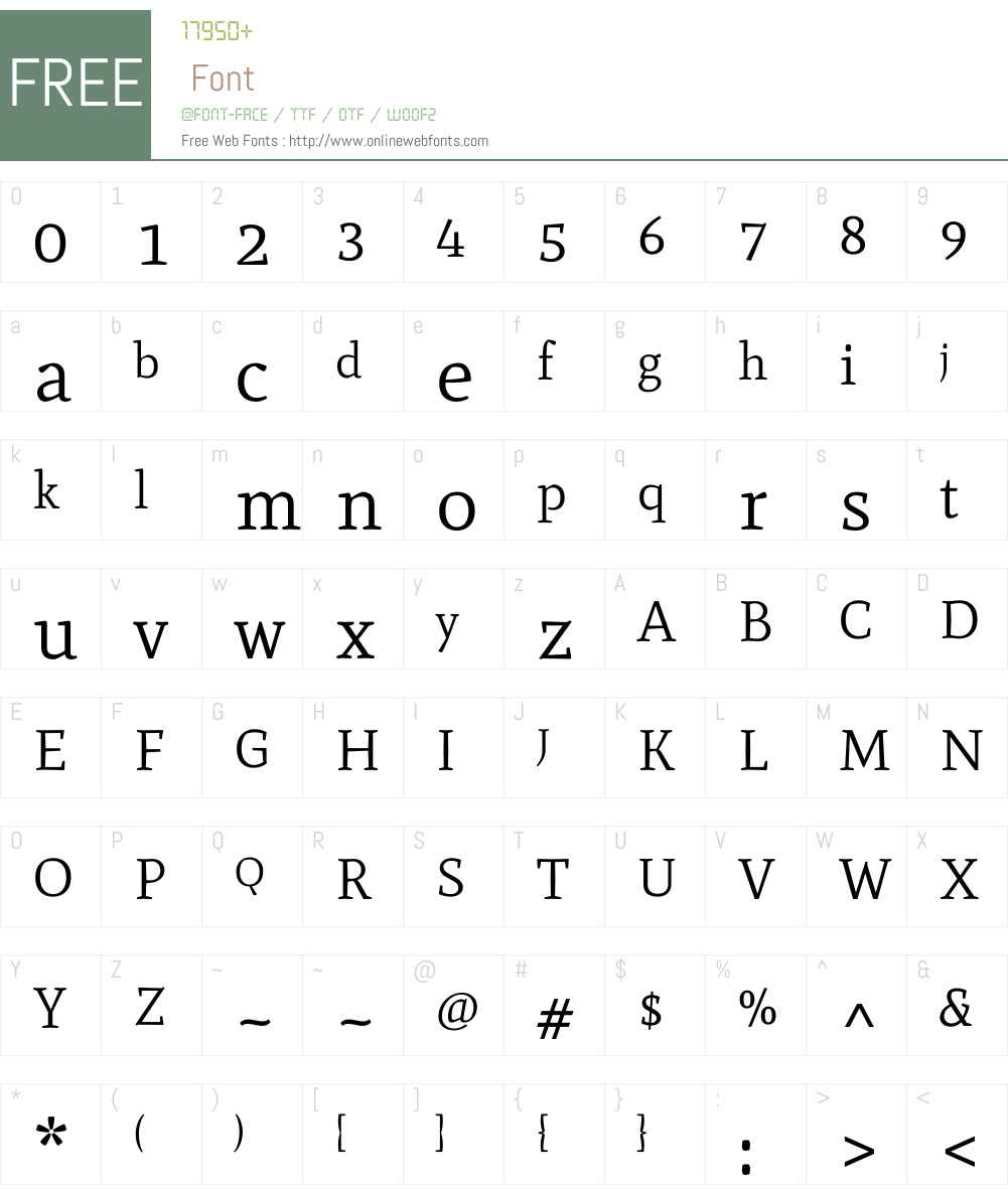 Mate Font Screenshots