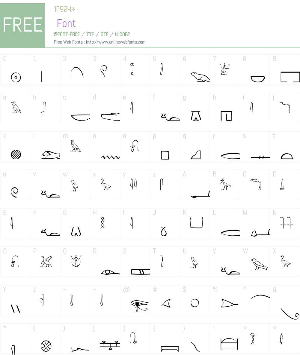 Hieroglyphic Font Screenshots