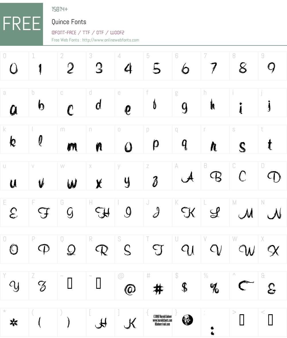 Quince Font Screenshots