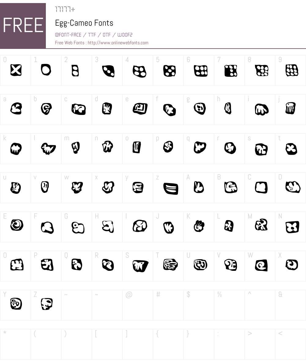 Egg Font Screenshots