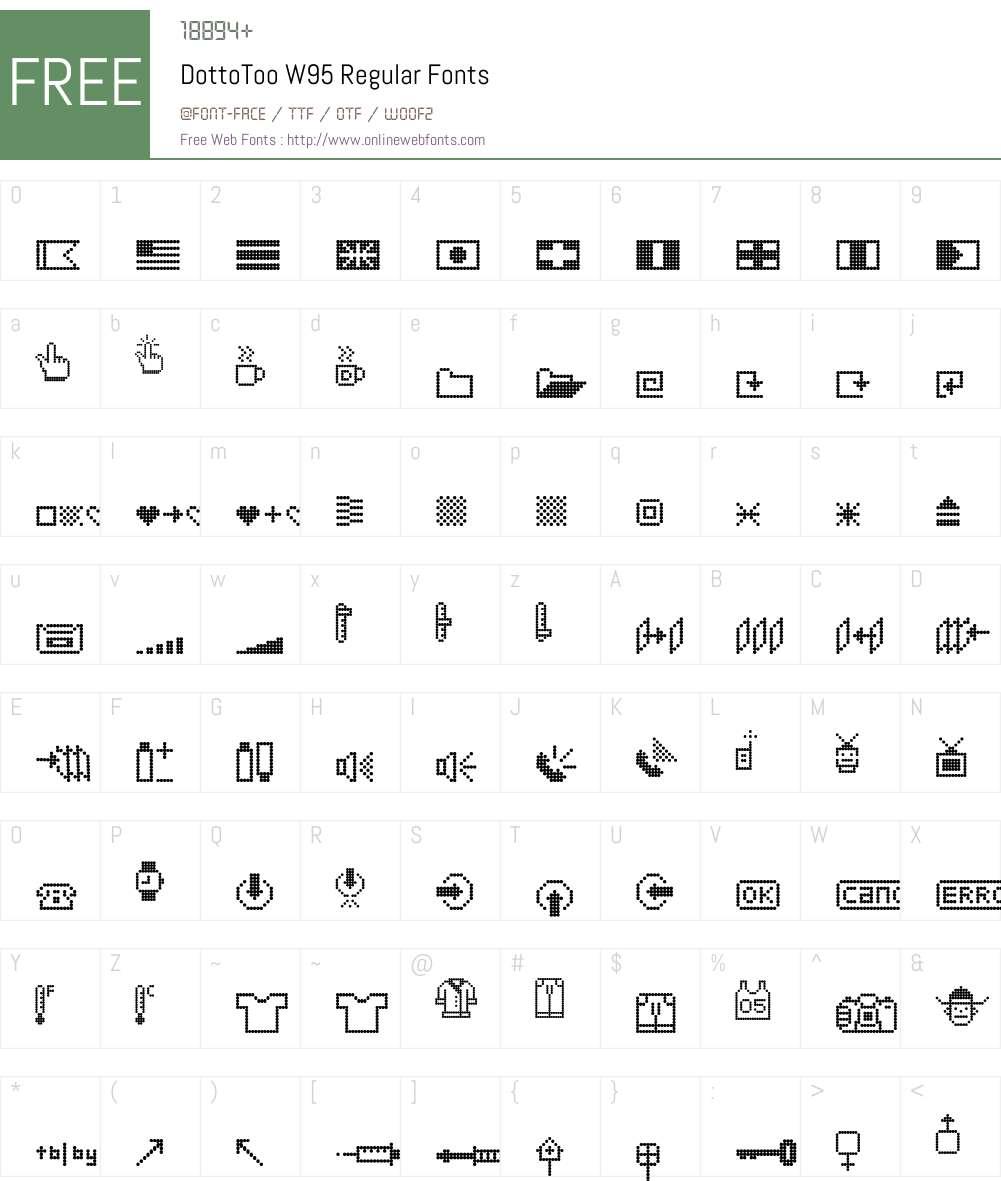 Dotto Font Screenshots