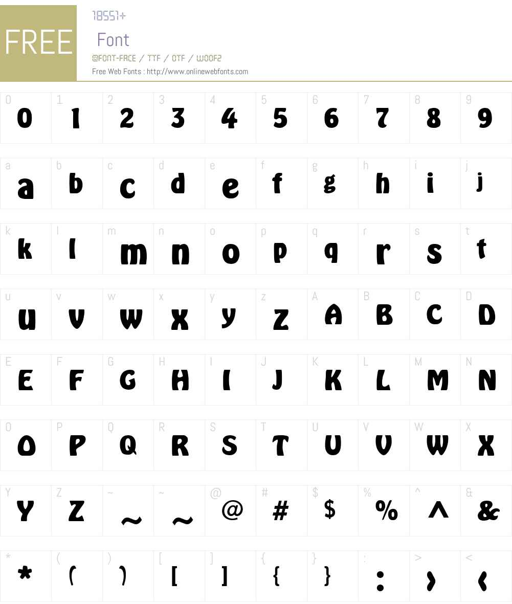 Hobo Font Screenshots