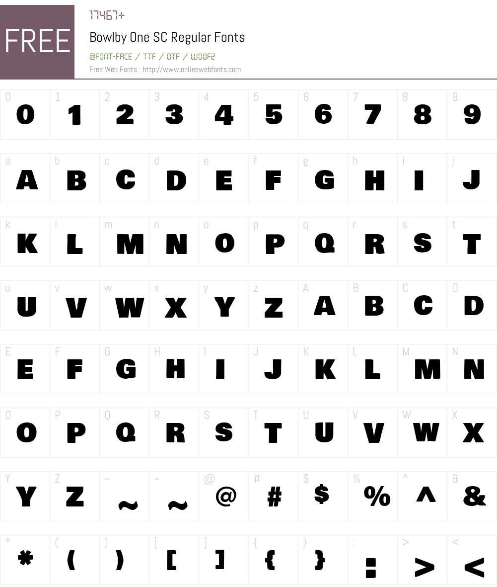 Bowlby One SC Font Screenshots