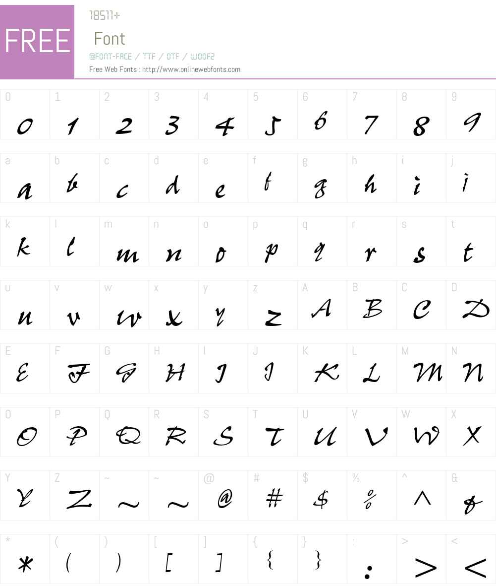 Pepita MT Std Font Screenshots