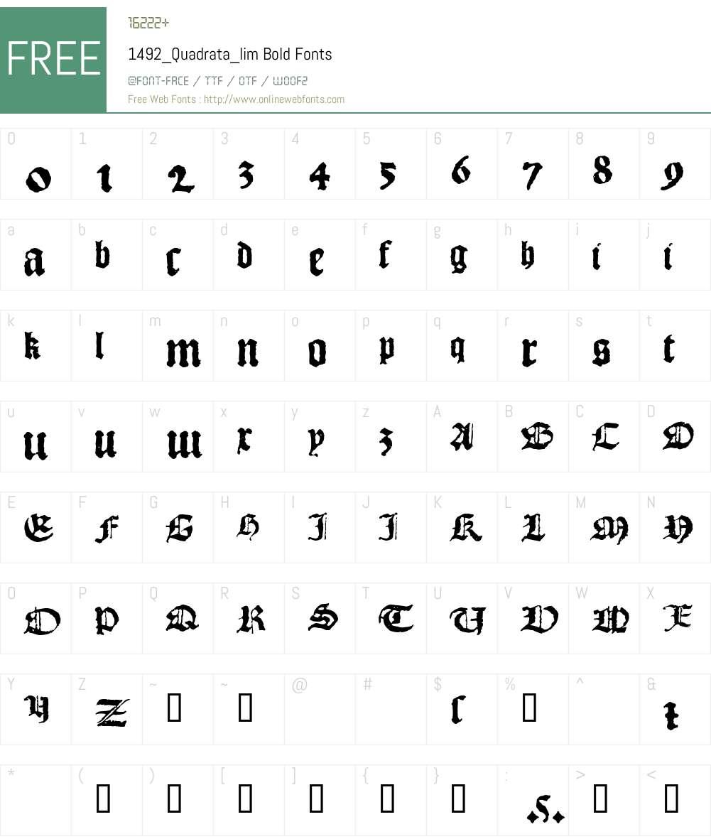 1492_Quadrata_lim Font Screenshots
