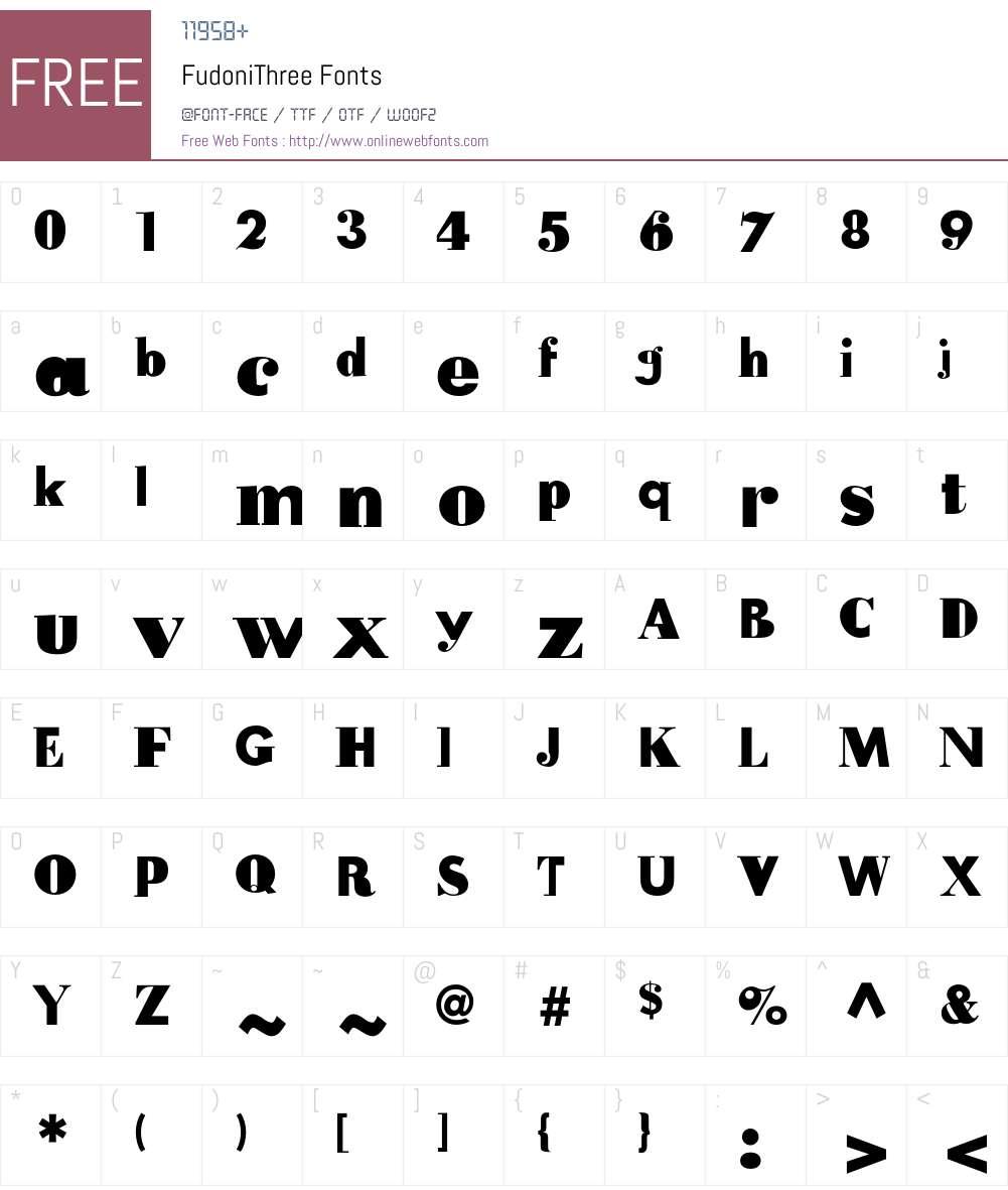 FudoniThree Font Screenshots