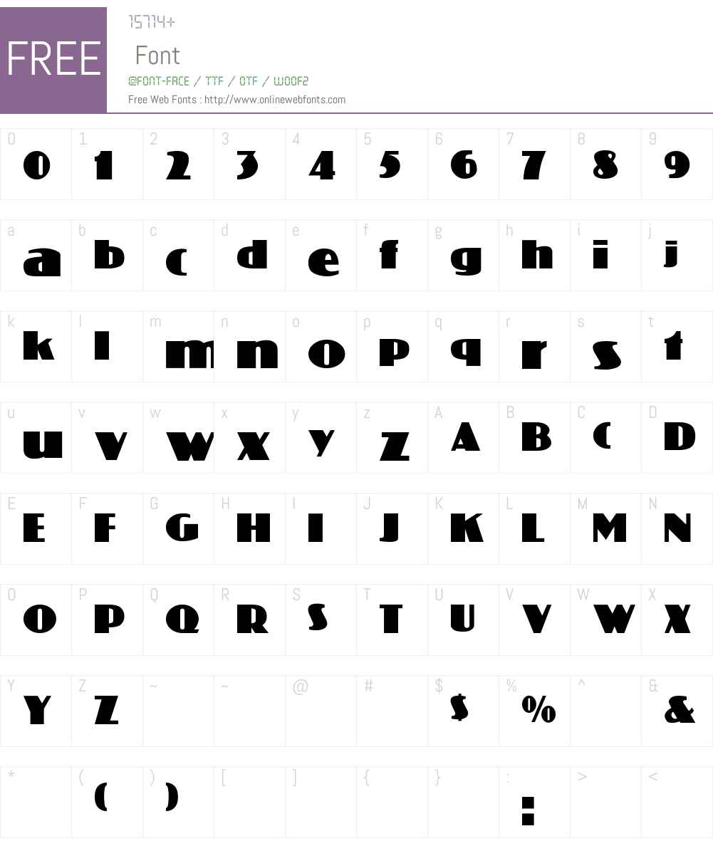 Coliseo Font Screenshots