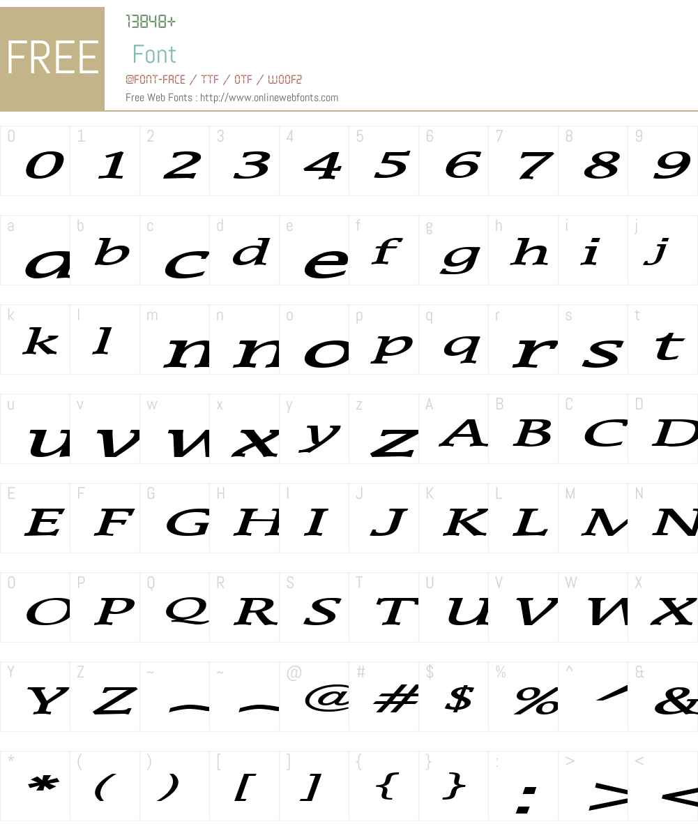 Mirror Extended Font Screenshots