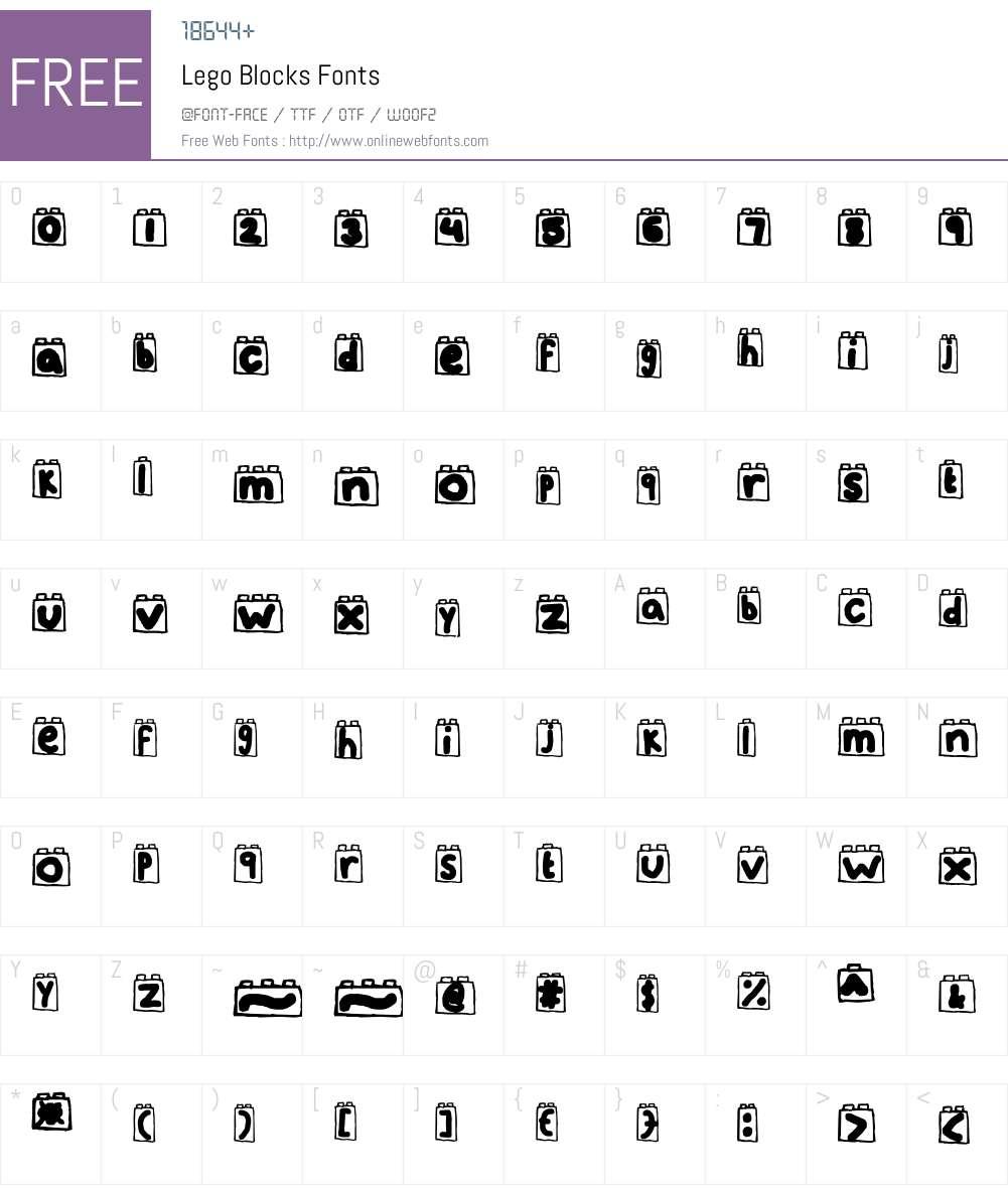 Lego Blocks Font Screenshots