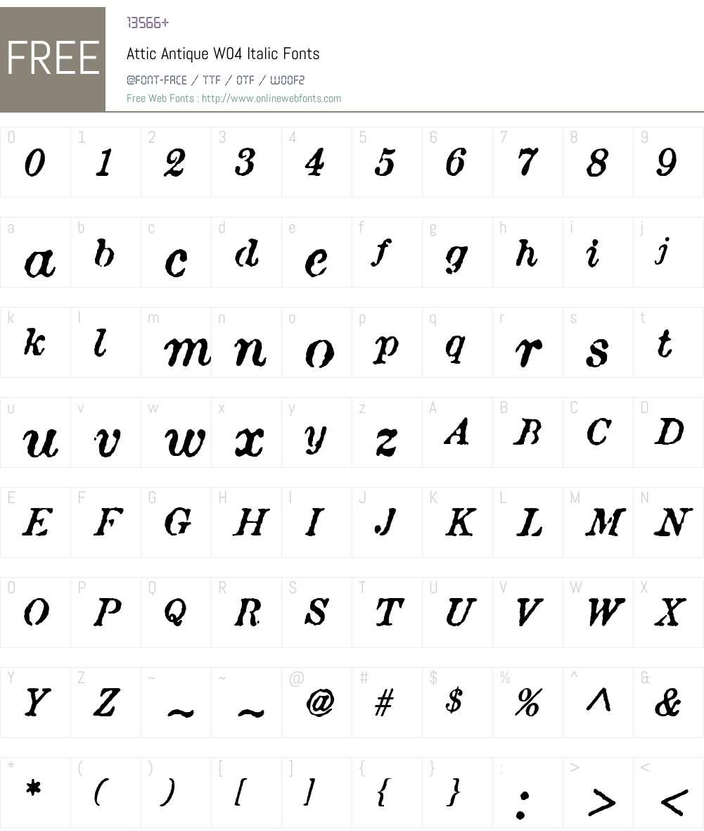 Attic Antique Font Screenshots