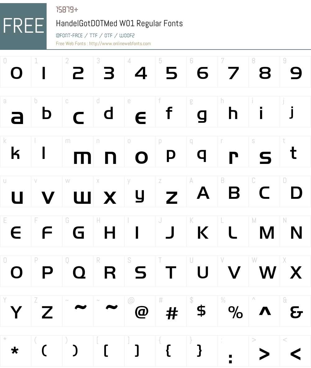 HandelGotDOTMedW01-Regular Font Screenshots