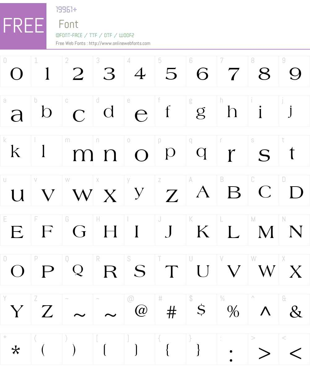 AmericanaW01-Roman Font Screenshots