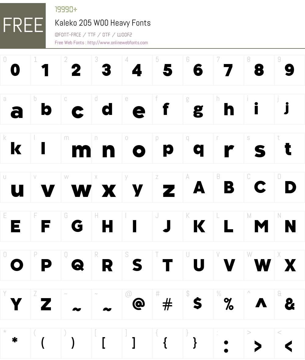 Kaleko205W00-Heavy Font Screenshots