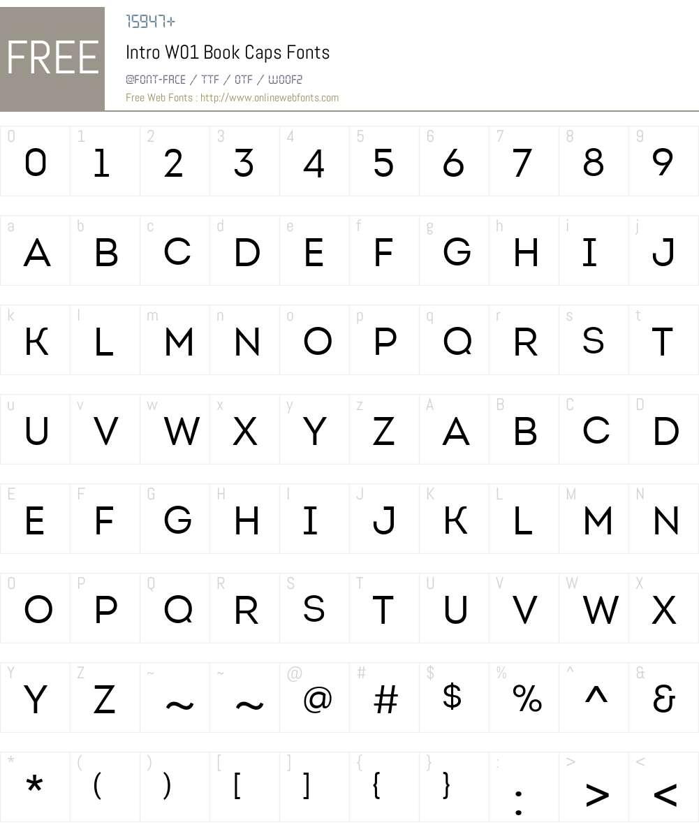 IntroW01-BookCaps Font Screenshots
