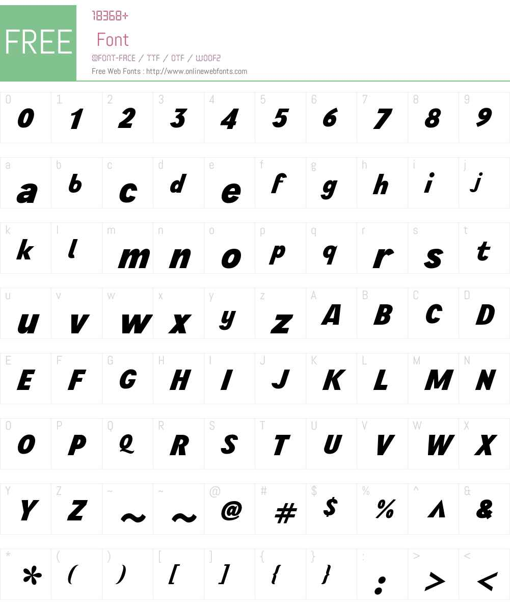 WienProSuperoblW00-Bold Font Screenshots