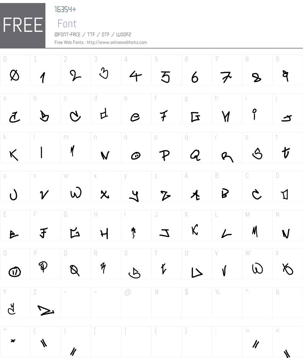 crAzy-WRiterZ) Font Screenshots