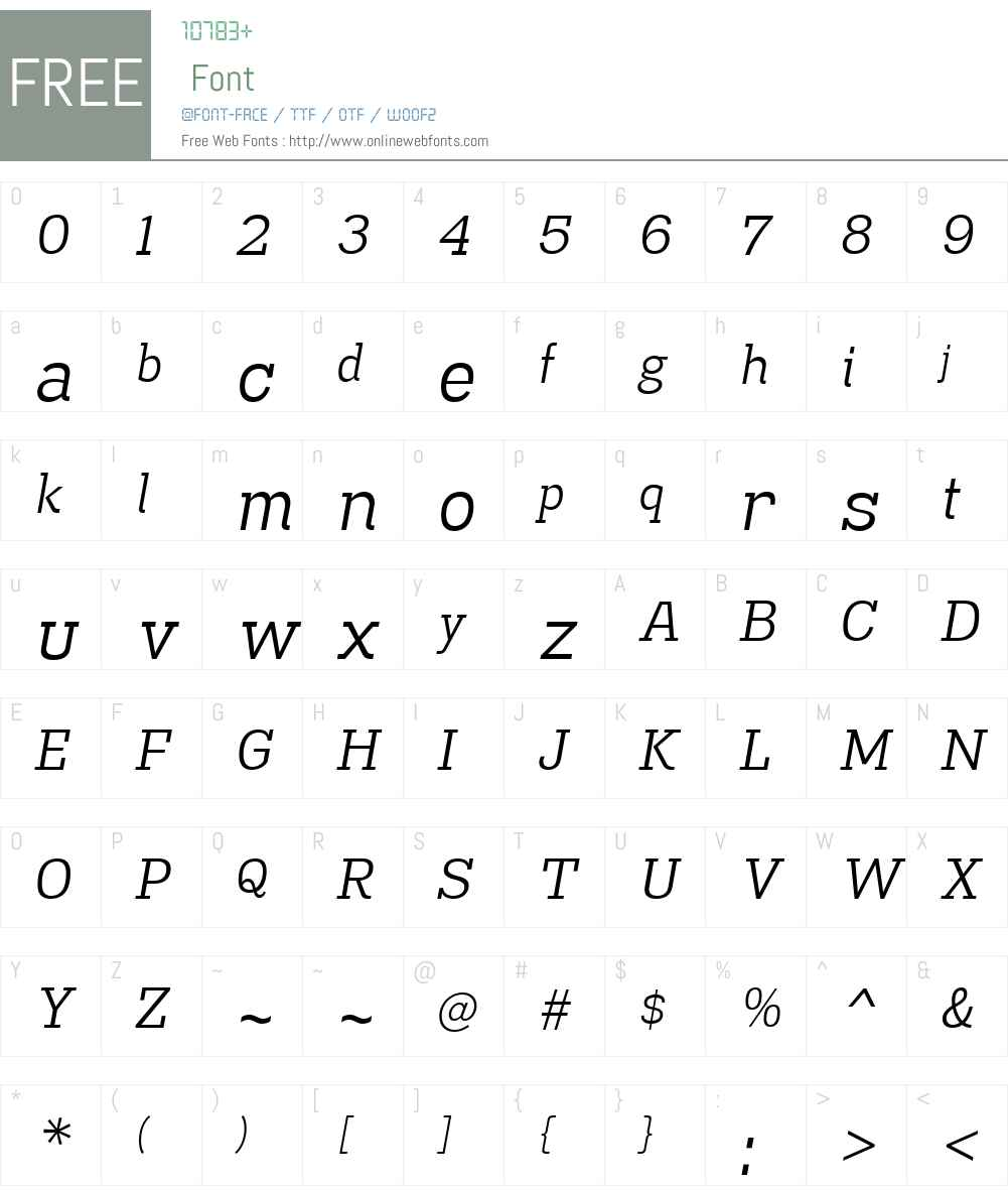 MadawaskaW00-BookItalic Font Screenshots