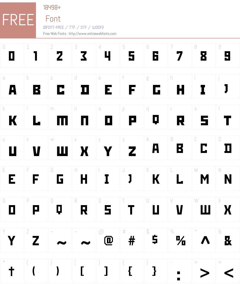 RodchenkoC Font Screenshots