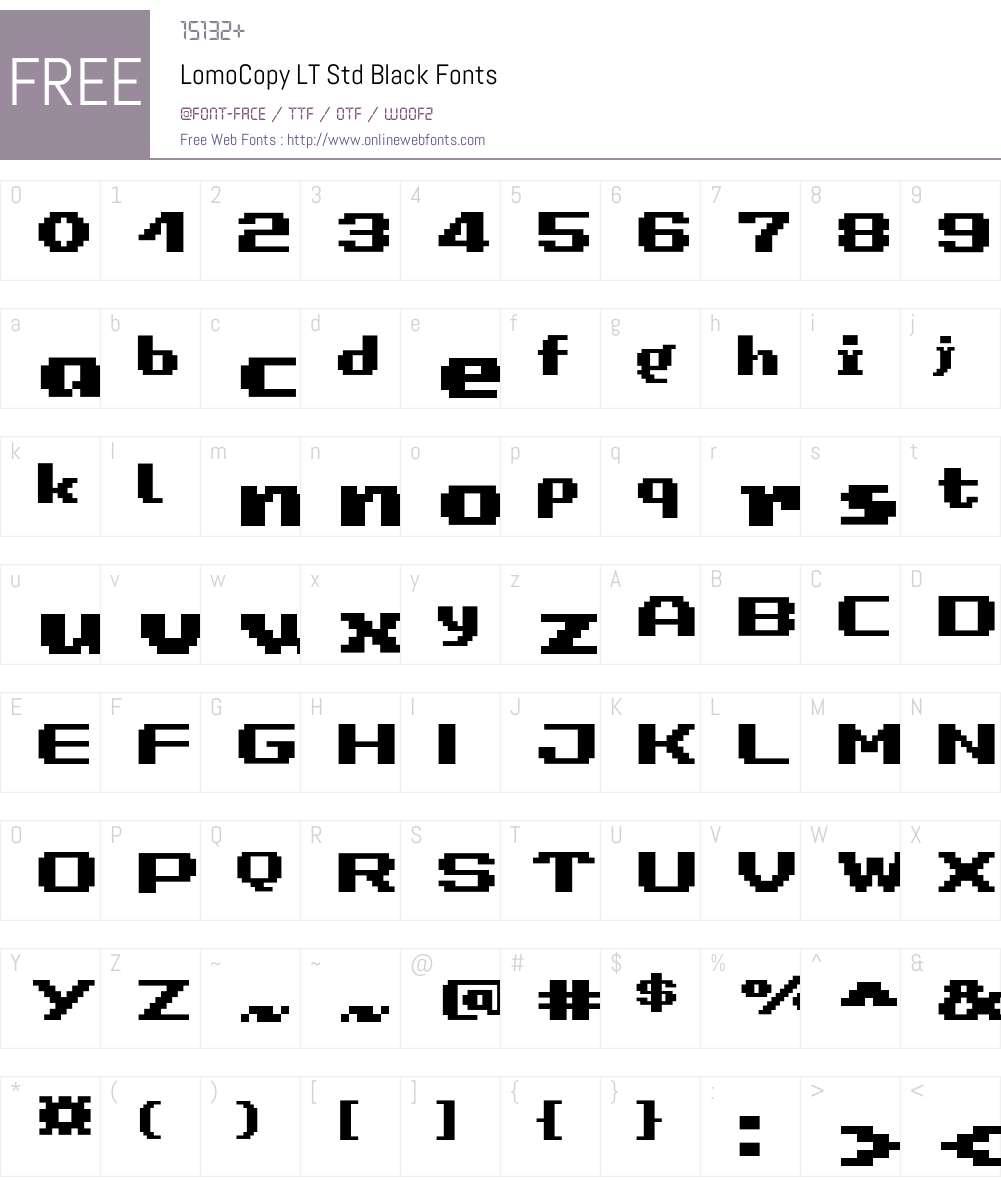 LomoCopy LT Std Black Font Screenshots