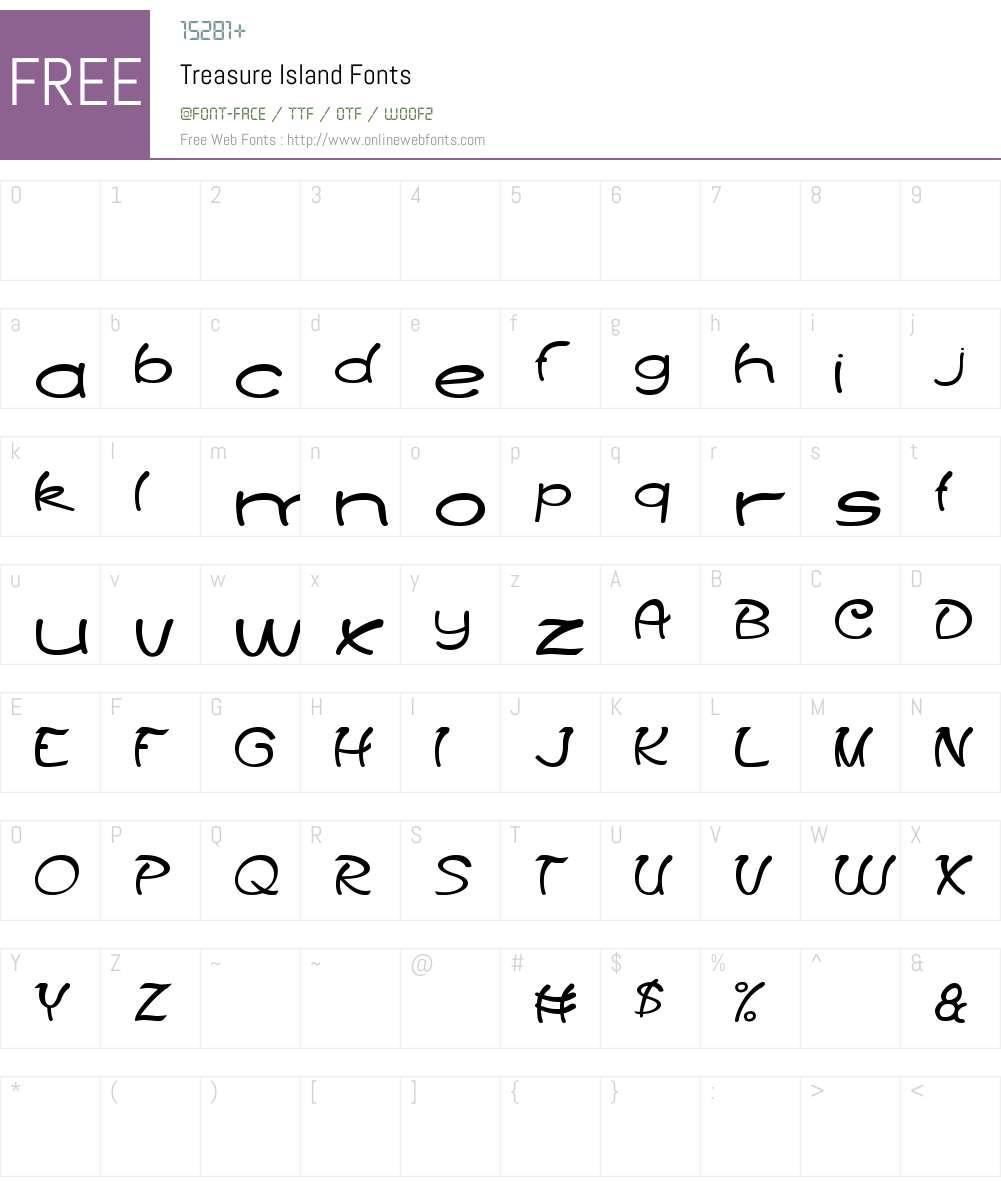 Treasure Island Font Screenshots