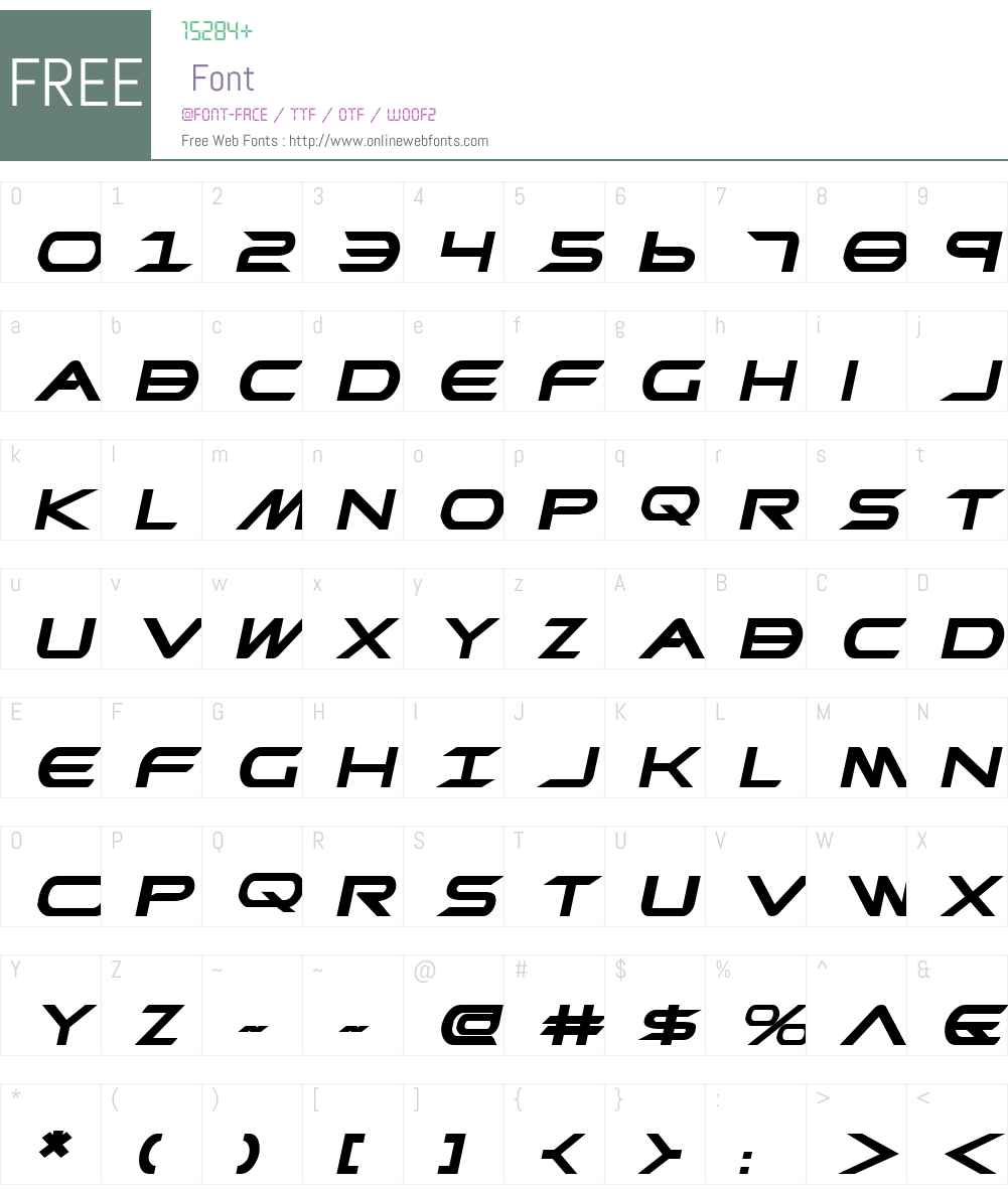 Promethean Bold ExpItalic Font Screenshots
