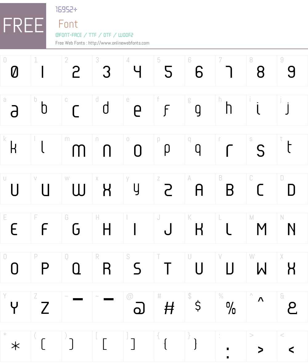 ReflexW00-Regular Font Screenshots