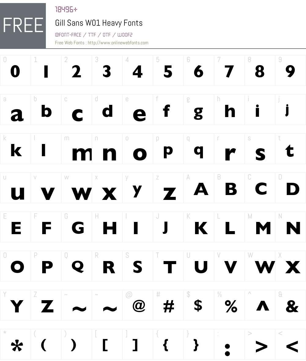 GillSansW01-Heavy Font Screenshots