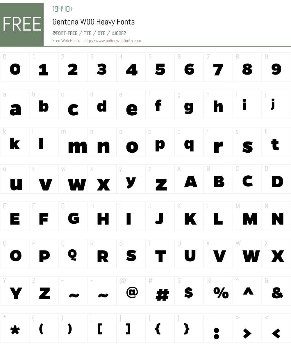 GentonaW00-Heavy Font Screenshots