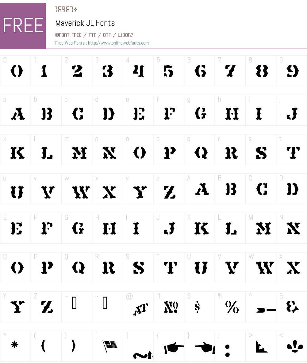 Maverick JL Font Screenshots