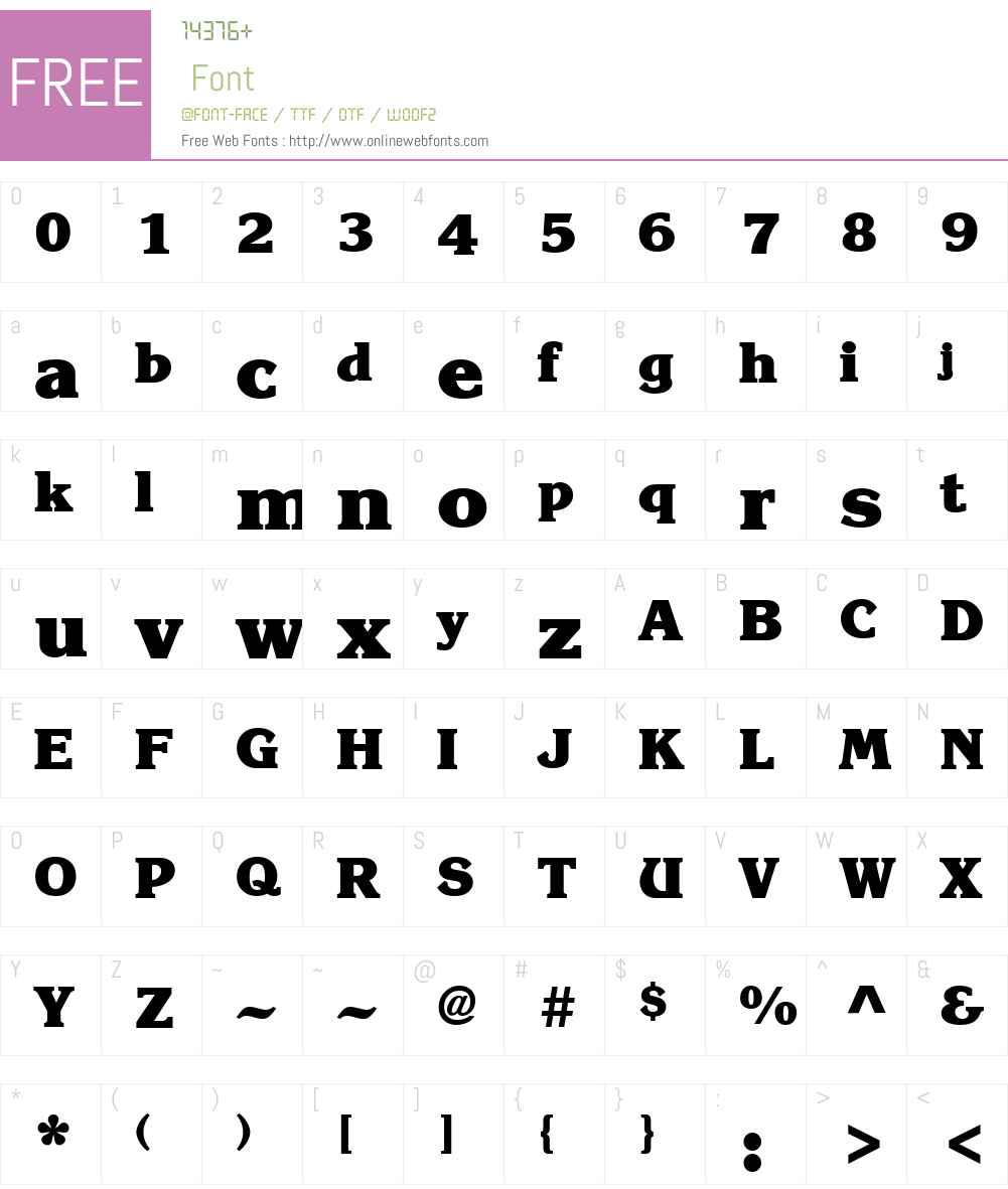 KorinnaStd-Heavy Font Screenshots