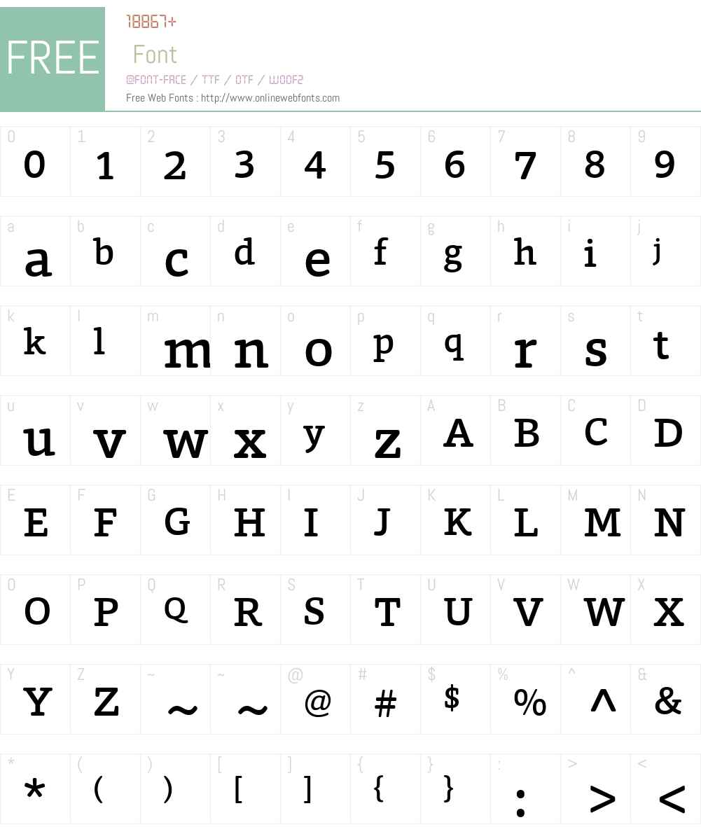 ForoRounded Font Screenshots