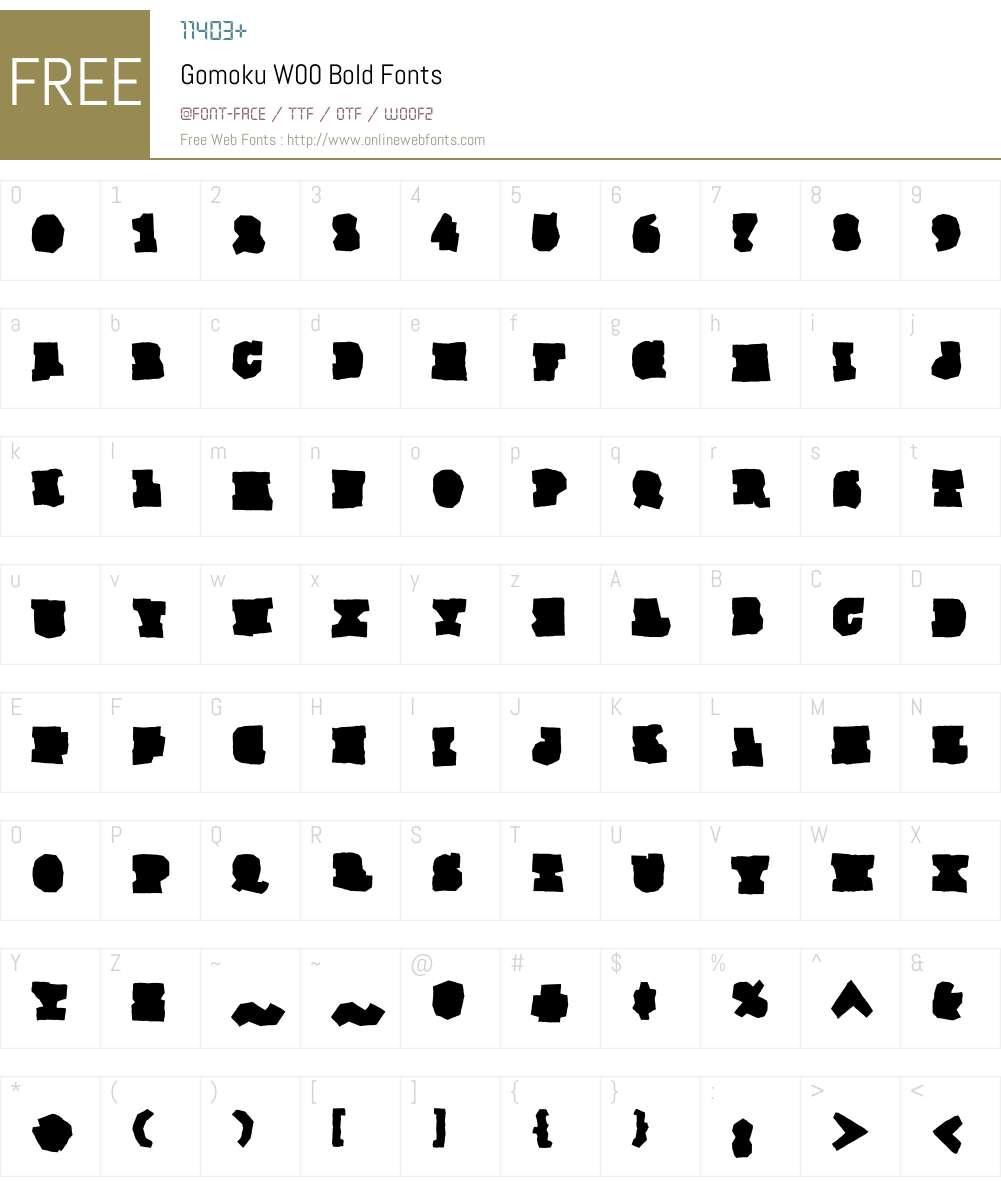 GomokuW00-Bold Font Screenshots