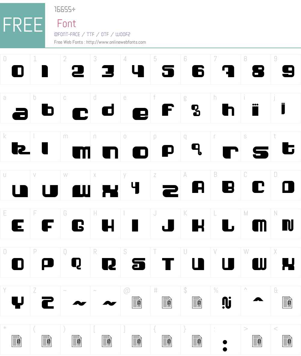 Shatner Font Screenshots