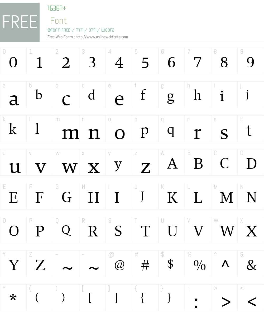 Mangan Font Screenshots