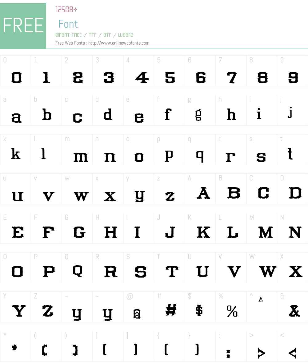 Tuscan Condensed Font Screenshots