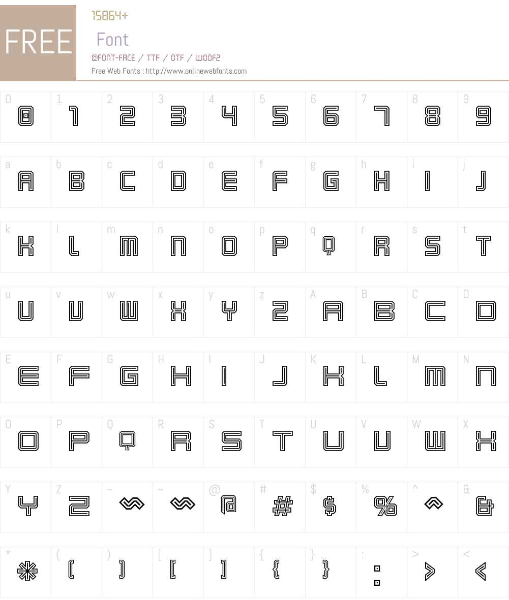 Karnivore Tecca Font Screenshots